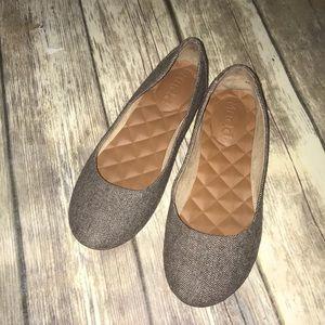 MUDD~Herringbone Tweed Fabric MICHONNE Flats~8